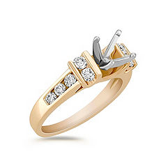 Diamond Engagement Ring with Channel Setting
