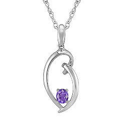 Oval Lavender Sapphire and Sterling Silver Pendant (18)