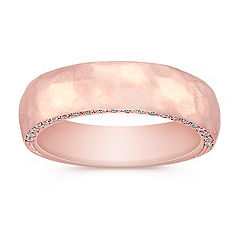 Diamond Rose Gold Wedding Band