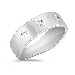 Round Diamond Wedding Band for Him