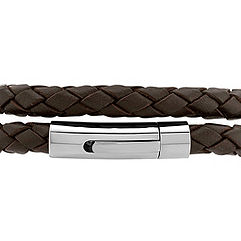 Braided Leather and Stainless Steel Bracelet (17)