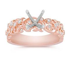 Vintage Diamond Engagement Ring in Rose Gold