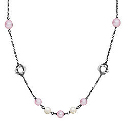 6.5-7.5mm Multi-Colored Freshwater Pearl and Sterling Silver Necklace (30)
