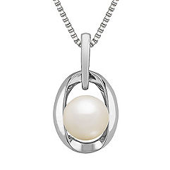8mm Cultured Freshwater Pearl and Sterling Silver Pendant (18 in.)