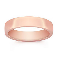 14k Rose Gold Euro Comfort Fit Ring (5.5mm)