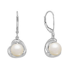 7.5mm Cultured Freshwater Pearl Earrings