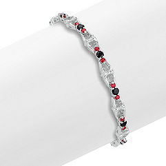 Round Black Sapphire and Ruby Bracelet (7)