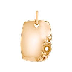 14k Yellow Gold Rectangle Charm