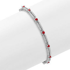 Round Ruby Bracelet (7 in.)