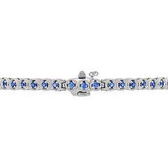 Round Kentucky Blue Sapphire Bracelet (7)