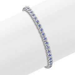 Round Kentucky Blue Sapphire Bracelet (7 in.)