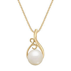 8.5mm Cultured Freshwater Pearl Pendant (18 in.)