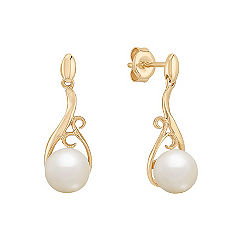 7.5mm Cultured Freshwater Pearl Dangle Earrings