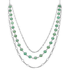 Green Aventurine and Sterling Silver Necklace (25)