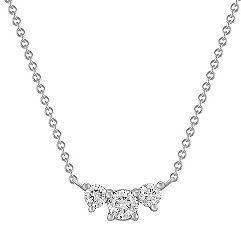 Three-Stone Diamond Necklace -3/4 ct. t.w. (18)