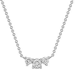 Three-Stone Diamond Necklace -1 ct. t.w. (18 in.)