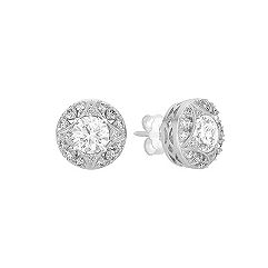 Round Diamond Star Sectioned Earring Jackets