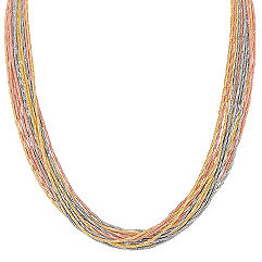 Colored Sterling Silver Chain Necklace (18 in.)