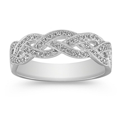 Interwoven Infinity Diamond Wedding Band
