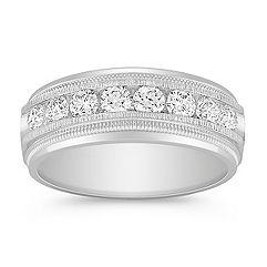 Channel Set Diamond Ring (8mm)