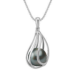 9mm Cultured Tahitian Pearl Pendant (18 in.)