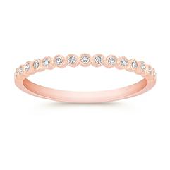 Round Diamond Wedding Band in 14k Rose Gold