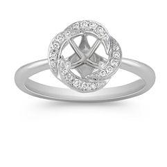 Round Diamond Ring with Pavé Setting
