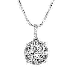 Circle Diamond Cluster Pendant (18)