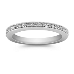 Classic Diamond Wedding Band with Pave Setting