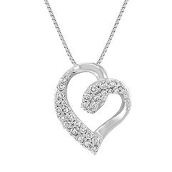 Classic Diamond Heart Pendant (18 in.)