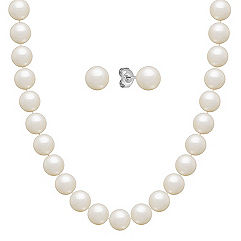 6.5mm Cultured Freshwater Pearl Strand and Earrings Two Piece Set (30 in.)
