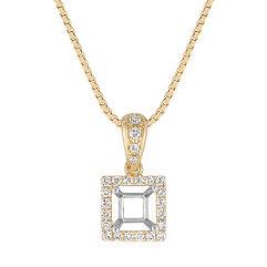 Round Diamond Square Pendant (18 in.)