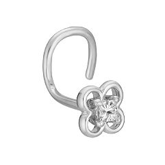 Princess Cut Diamond Nose Ring