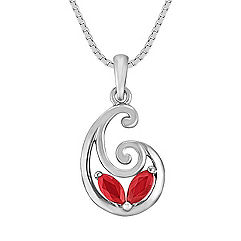 Marquise Ruby Swirl Pendant (18 in.)