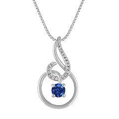 Sapphire and Diamond Swirl Pendant (18)