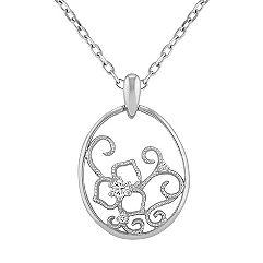 Diamond Circle Pendant (18 in.)