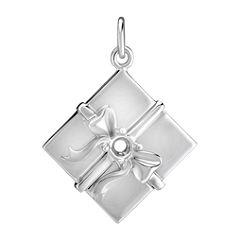 14k White Gold Gift Charm