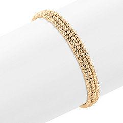 Yellow Sterling Silver Flex Cuff Bracelet (7 in.)