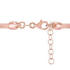 Rose Sterling Silver Woven Bracelet (7)