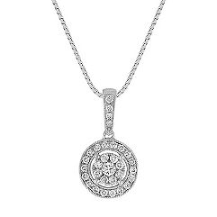 Cluster Diamond Pendant (18)
