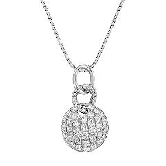 Round Diamond Circle Cluster Pendant (18)