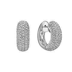 Diamond Hoop Earrings with Pave Setting