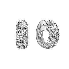 Diamond Hoop Earrings with Pave Setting