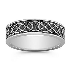 Engraved Comfort Fit Cobalt Ring (7mm)