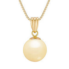 10mm Golden Cultured South Sea Pearl Pendant (18 in.)
