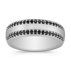 Pave Set Black Sapphire Ring