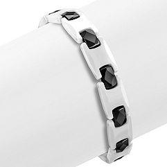 Black and White Ceramic Bracelet (8.5 in.)