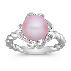 9mm Lavender Cultured Freshwater Pearl and Sterling Silver Ring