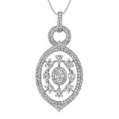 Round and Fancy Shape Diamond Pendant (18 in.)