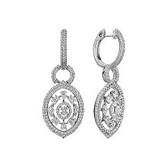 Fancy Shape and Round Diamond Dangle Earrings